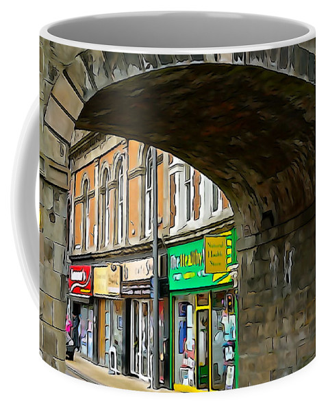 Shops Coffee Mug featuring the photograph Derry Shops by Charlie and Norma Brock