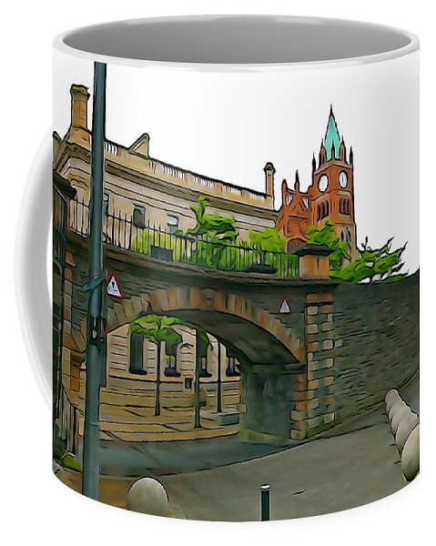 Gate Coffee Mug featuring the photograph Derry Walls by Charlie and Norma Brock