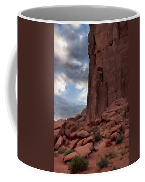 Desert Coffee Mug featuring the photograph Desert Dreams by Karen Ulvestad