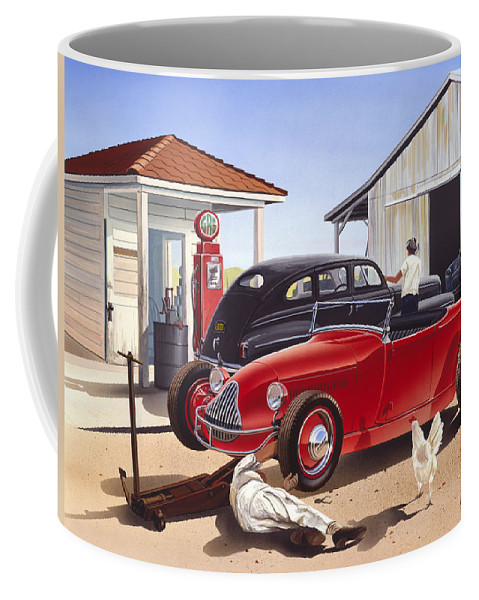Adult Coffee Mug featuring the photograph Desert Gas Station by Bruce kaiser