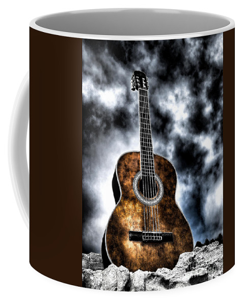 Acoustic Guitar Coffee Mug featuring the photograph Devils Acoustic by Jason Abando