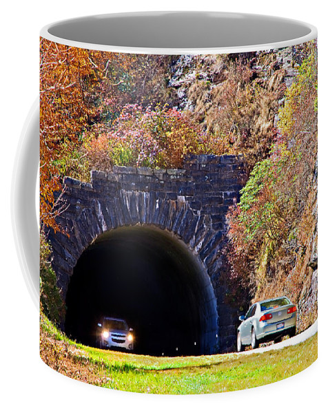 Cars Coffee Mug featuring the photograph Devil's Courthouse Tunnel by Susan Leggett