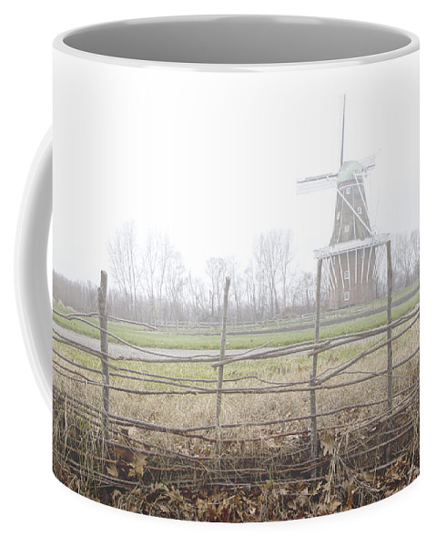 Art Coffee Mug featuring the photograph Dezwaan Windmill In Holland Michigan No.232 by Randall Nyhof