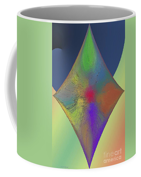 Abstract Coffee Mug featuring the digital art Diamond Abstract by Deborah Benoit