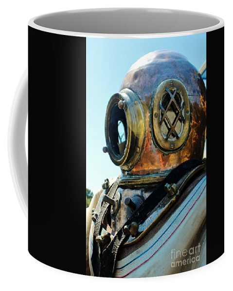 Dive Helmet Coffee Mug featuring the photograph Dive Helmet by Rene Triay Photography