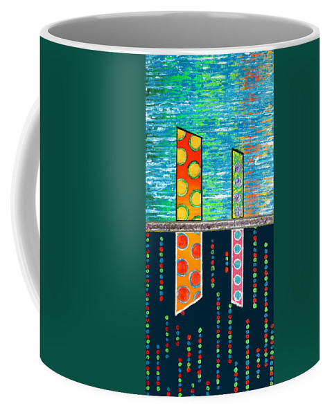 Diversity Coffee Mug featuring the painting Diversity - Friction Between Factions V3 by Jeremy Aiyadurai