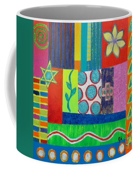Diversity Coffee Mug featuring the painting Diversity Has Proven God Is Love V2 by Jeremy Aiyadurai
