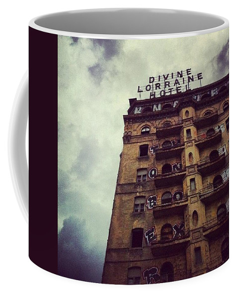 Phillygram Coffee Mug featuring the photograph Divine by Katie Cupcakes