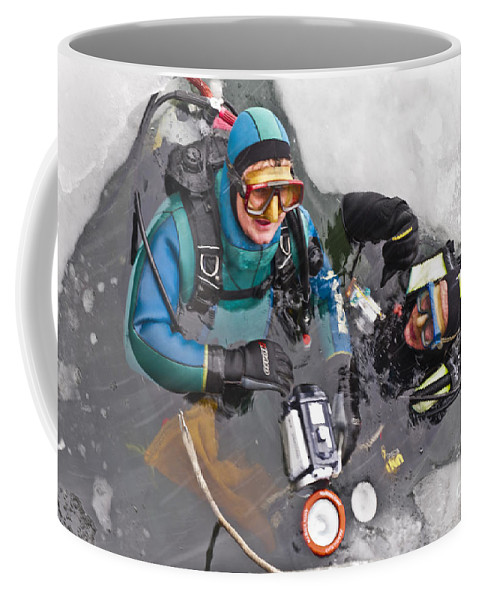 Heiko Coffee Mug featuring the photograph Diving In The Ice by Heiko Koehrer-Wagner