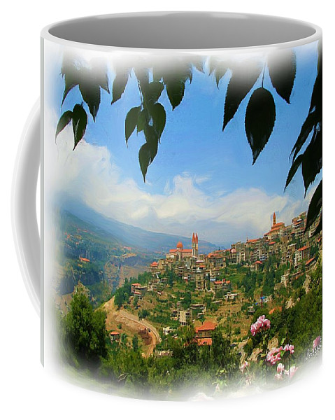 Digital Paintings Coffee Mug featuring the photograph Do-00547 Town Of Bcharre by Digital Oil