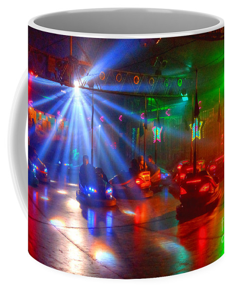 Dodgems Coffee Mug featuring the photograph Dodgems by Rob Hawkins