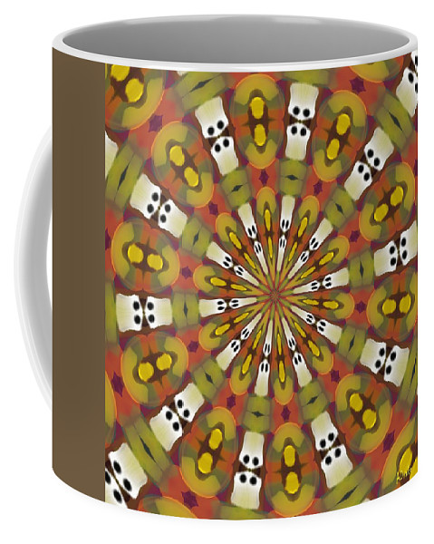 Dominos Coffee Mug featuring the digital art Dominoes by Alec Drake