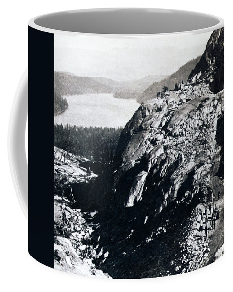 donner Lake Coffee Mug featuring the photograph Donner Lake From Summit - California - C 1865 by International Images
