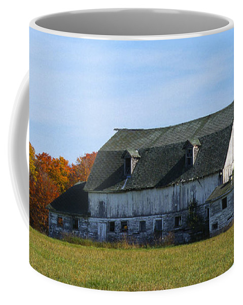 Bronstein Coffee Mug featuring the photograph Door County Barn by Sandra Bronstein