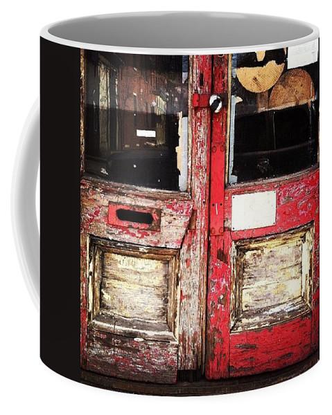 Door Coffee Mug featuring the photograph Door by Katie Cupcakes