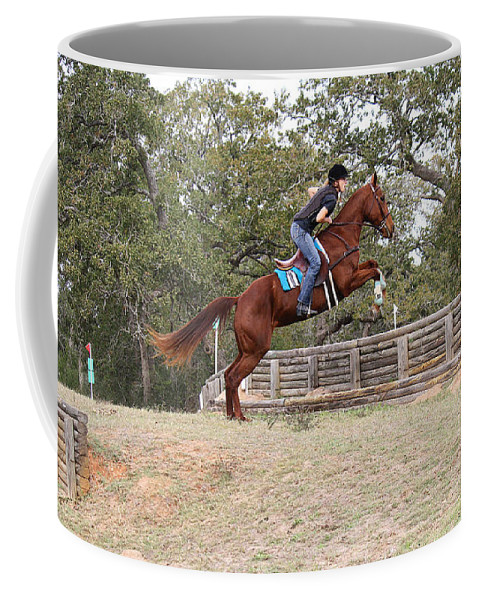 Roena King Coffee Mug featuring the photograph Double Up Hill Jump by Roena King