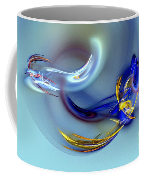 Dove Coffee Mug featuring the digital art Dove Or Witch - Fight In Soul Of Woman by Klara Acel