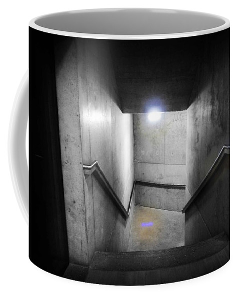 Stairs Coffee Mug featuring the photograph Down by Charles Stuart