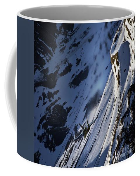 Coffee Mug featuring the photograph Down The Hill by Angel Ciesniarska
