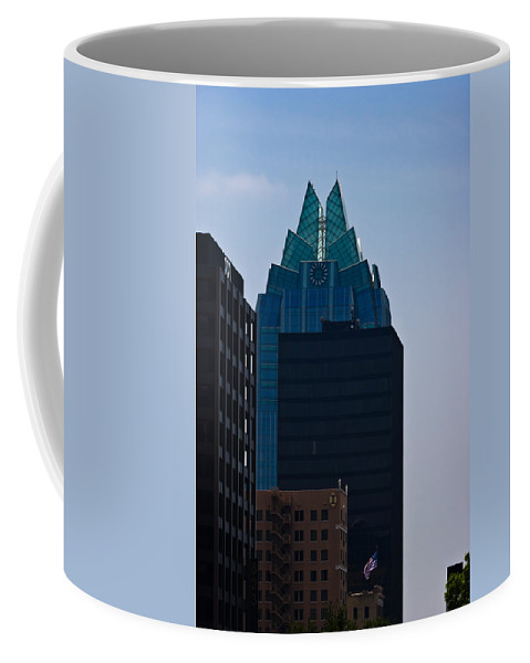 Architecture Coffee Mug featuring the photograph Downtown Austin by Ed Gleichman