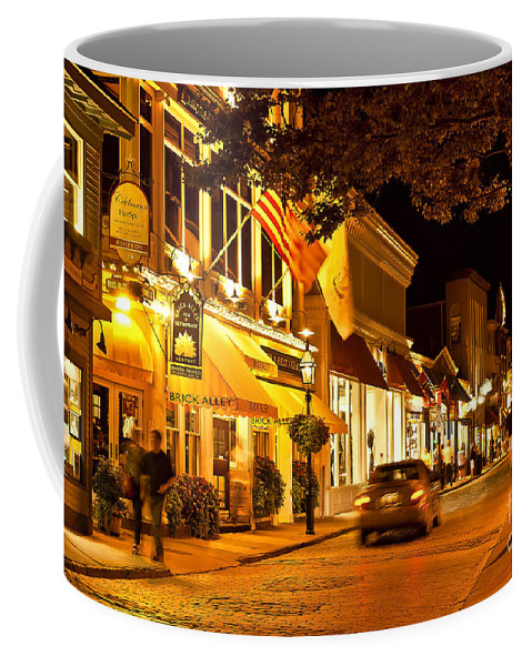 Brick Alley Coffee Mug featuring the photograph Downtown Newport by John Greim