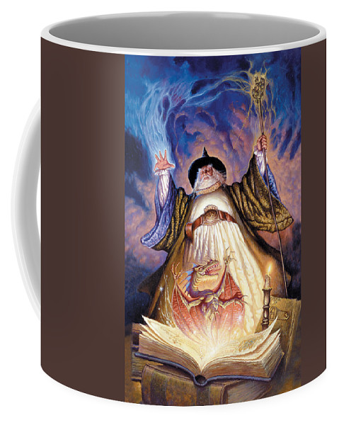 Wizard Coffee Mug featuring the photograph Dragon Spell by The Dragon Chronicles