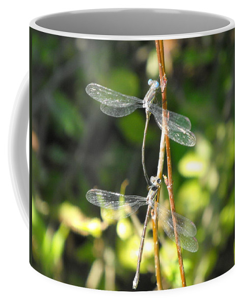 Dragonflies Coffee Mug featuring the photograph Dragonflies by Paulina Roybal