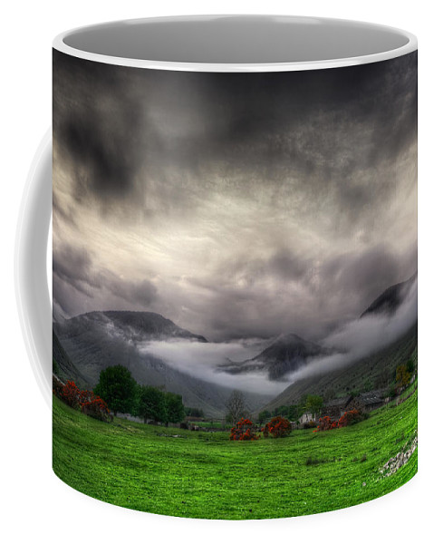 Country Coffee Mug featuring the photograph Dramatic Clouds by Svetlana Sewell