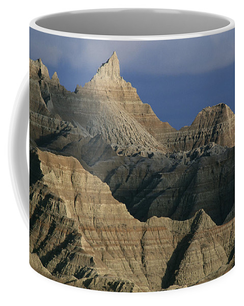 North America Coffee Mug featuring the photograph Dramatic Peaks Dominate A Portion by Annie Griffiths