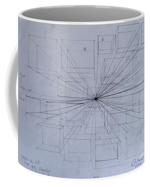 Perspective Coffee Mug featuring the drawing Drawing Class. Perspective by Caroline Street