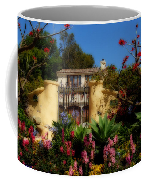 Malibu Coffee Mug featuring the photograph Dream Cottage In Malibu by Lynn Bauer