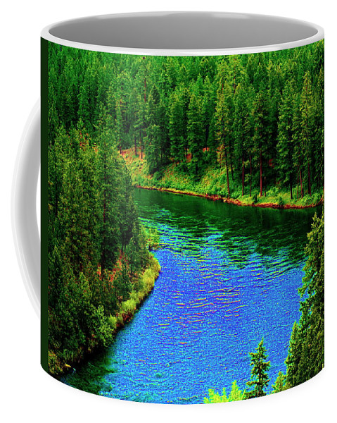 River Coffee Mug featuring the photograph Dreamriver by Ben Upham III