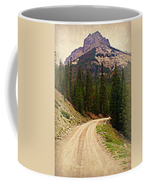 Mountains Coffee Mug featuring the photograph Dubois Mountain Road by Marty Koch