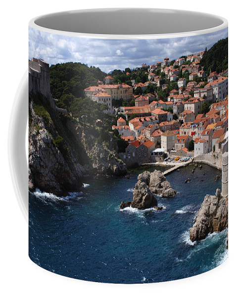 Dubrovnik Coffee Mug featuring the photograph Dubrovnik By The Sea by Bob Christopher