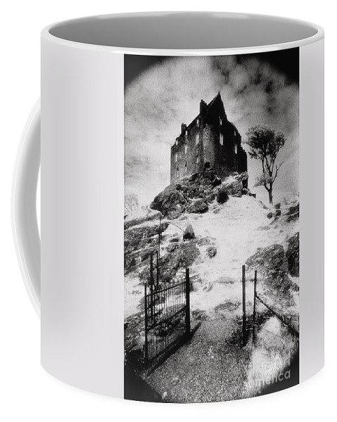 Duntrune; Architecture; Ruin; Ghostly; Eerie; Bleak; Hill; Haunted House Coffee Mug featuring the photograph Duntroon Castle by Simon Marsden
