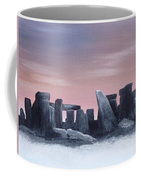 Dusk Coffee Mug featuring the painting Dusk On The Winter Solstice At Stonehenge 1877 by Alys Caviness-Gober