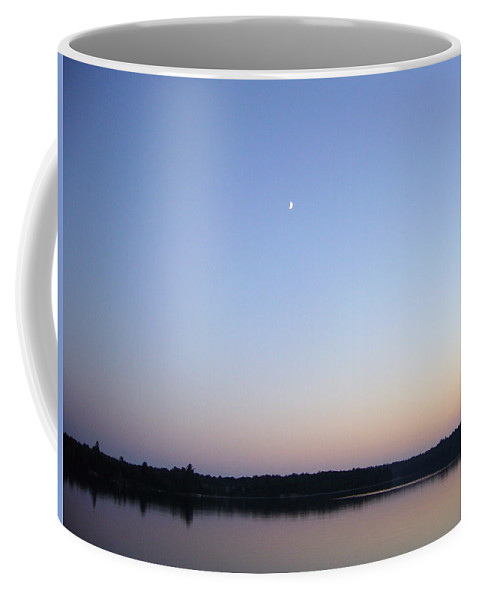 Dusk Coffee Mug featuring the photograph Dusk's Moon - Part Two by Shirley Radebach