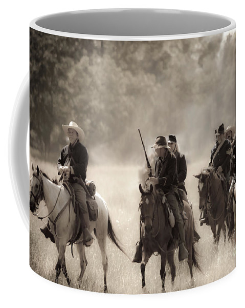 Reenactment Coffee Mug featuring the mixed media Dusty Trail by Kim Henderson