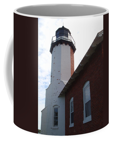 Lighthouse Coffee Mug featuring the photograph Eagle Harbor by Bonfire Photography