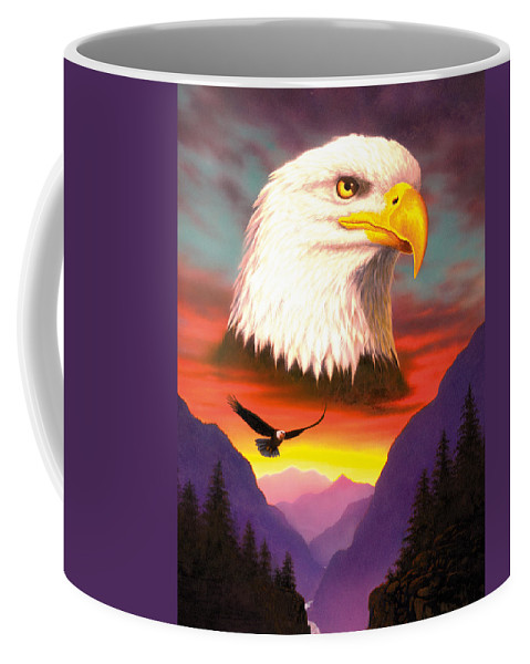 Animal Coffee Mug featuring the photograph Eagle by MGL Studio - Chris Hiett
