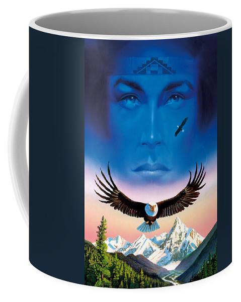 Chris Hiett Coffee Mug featuring the photograph Eagle Mountain by MGL Studio - Chris Hiett
