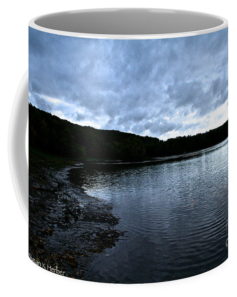 Landscape Coffee Mug featuring the photograph Early Am Shoreline by Susan Herber