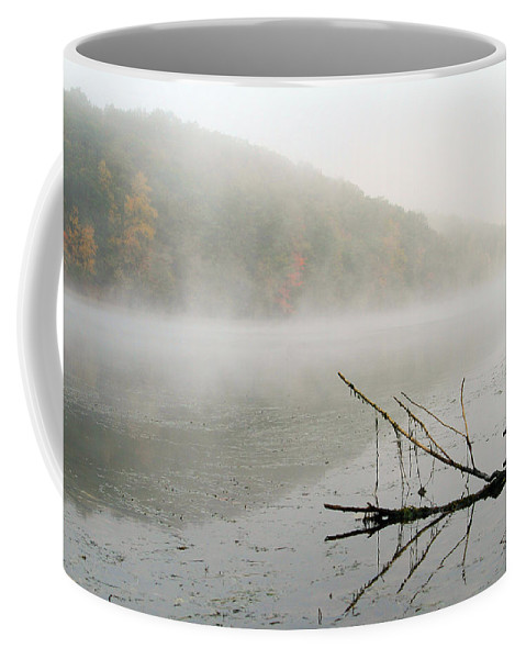 Fog Coffee Mug featuring the photograph Early Autumn Morn by Karol Livote