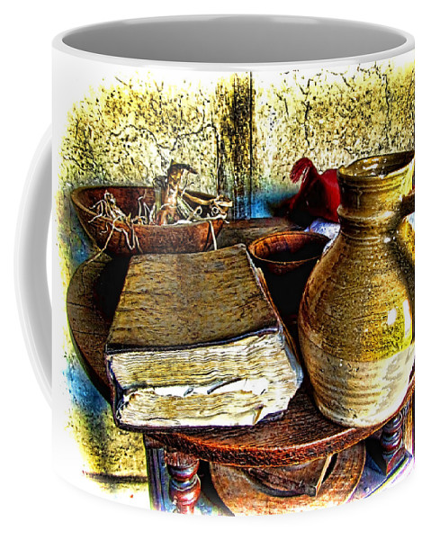 Farm House Coffee Mug featuring the photograph Early Colonial Still Life by Mark Sellers