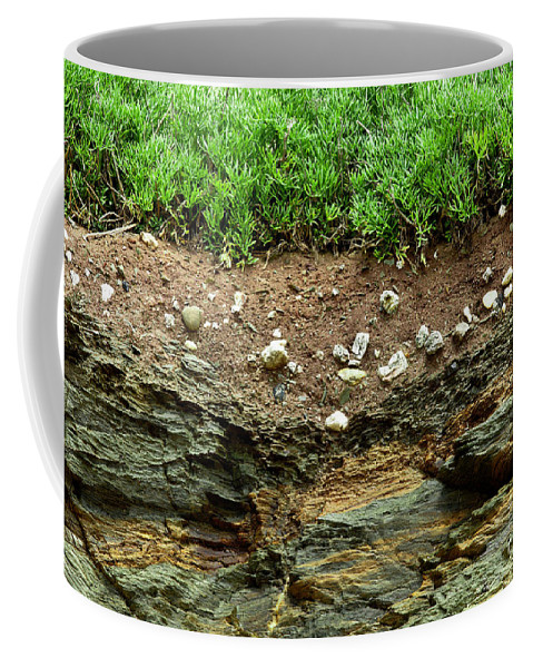 Earth Coffee Mug featuring the photograph Earth Cross Section by Simon Bratt Photography LRPS
