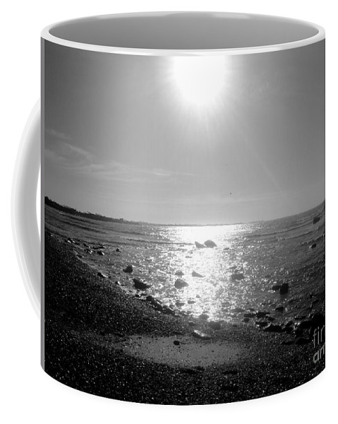 Black Coffee Mug featuring the photograph Earth Water And Fire by Kevin Fortier