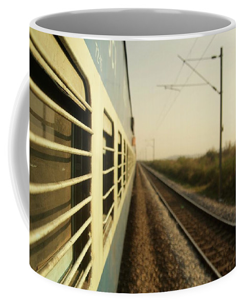 Trains Coffee Mug featuring the photograph Eastbound by Valerie Rosen
