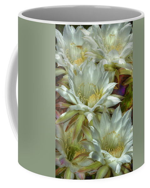 Flower Coffee Mug featuring the photograph Easter Lily Cactus Bouquet Hdr by Phyllis Denton