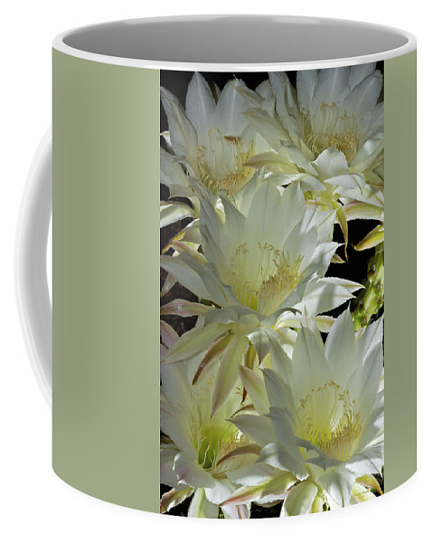 Flower Coffee Mug featuring the photograph Easter Lily Cactus Bouquet by Phyllis Denton