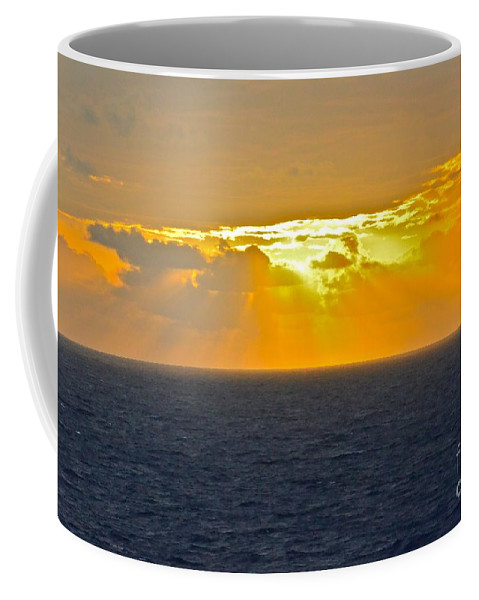 Caribbean Coffee Mug featuring the photograph Eastern Caribbean Sunset by Carol Bradley